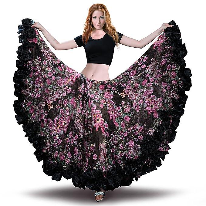 Amazon.com: Royal Sheela - Falda de gasa para danza del ...