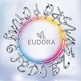 EUDORA Sterling Silver Necklace 26 Letters Alphabet