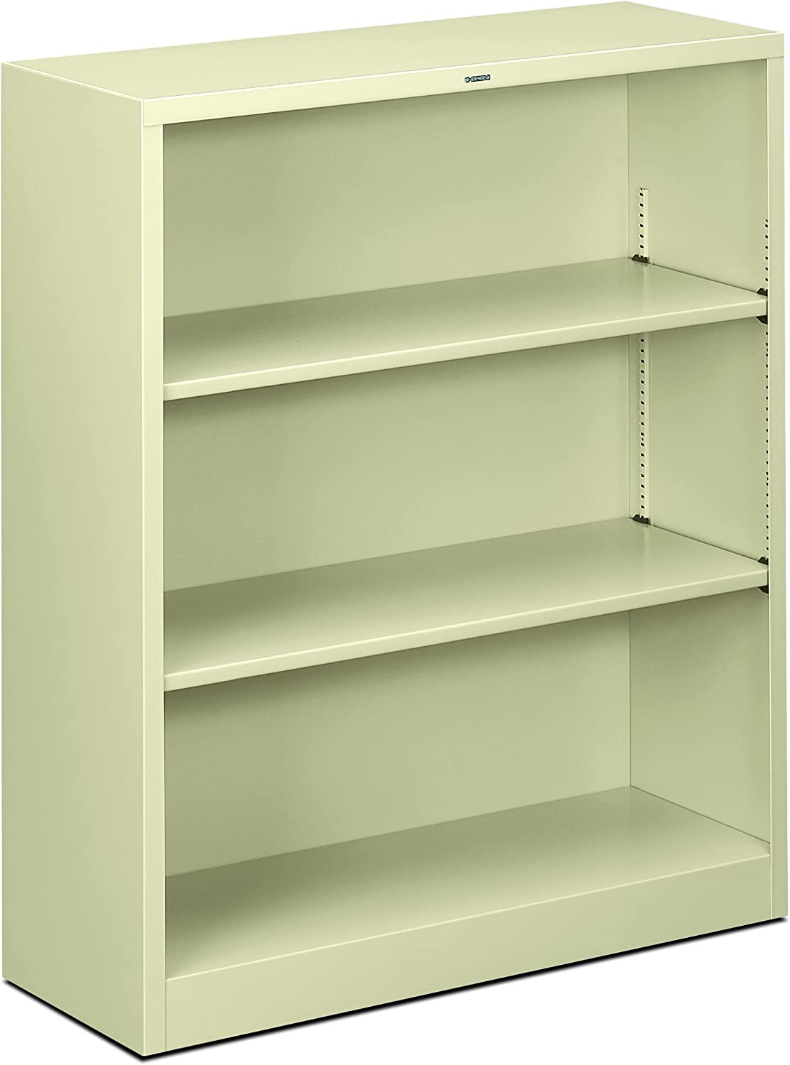 HON Brigade Metal Bookcase – Bookcase with Two Shelves, 34-1 2w x 12-5 8d x 41h, Putty HS42ABC