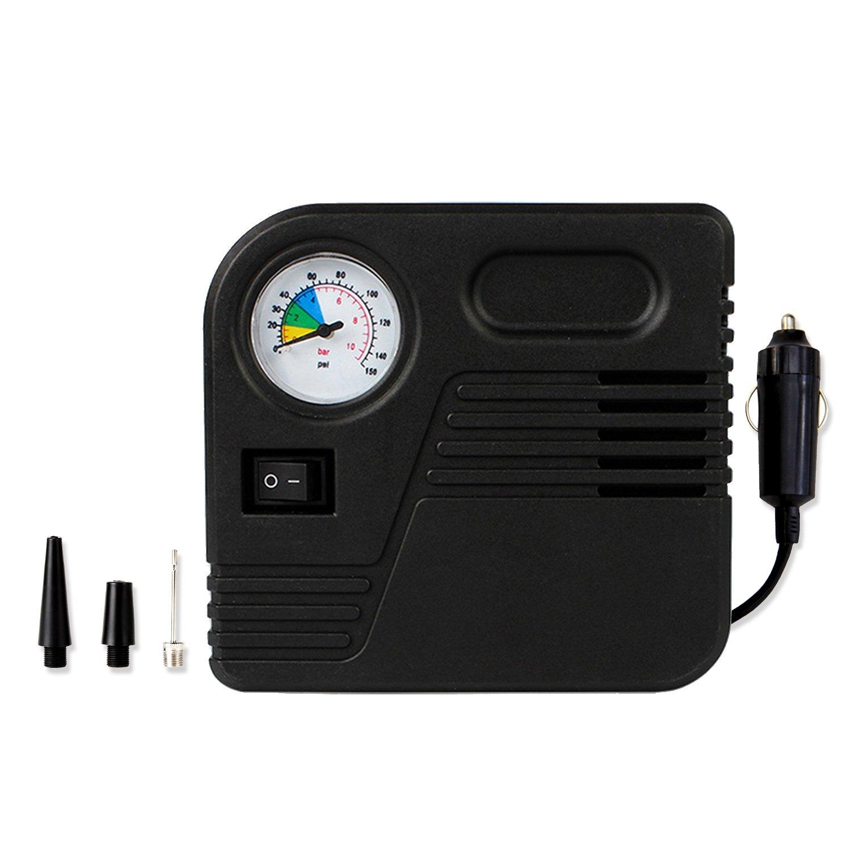 Luftkompressor, Amytech Mini Tragbar Reifenkompressor Luftpumpe mit Zigarettenstecker zu Max. 150 PSI fü r Reifen, Sportbä lle und Schwimmreifen