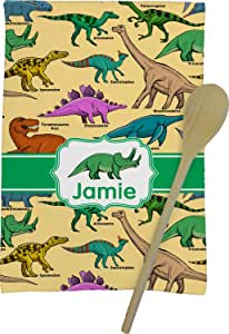 YouCustomizeIt Dinosaurs Kitchen Towel - Full Print (Personalized)