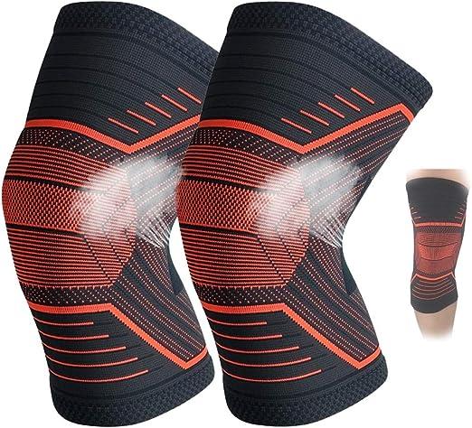 BLLJQ Rodilleras Deportivas, Rodilleras de Baloncesto, Rodilleras Protectoras Transpirables, protección de rehabilitación de menisco (Naranja): Amazon.es: Hogar
