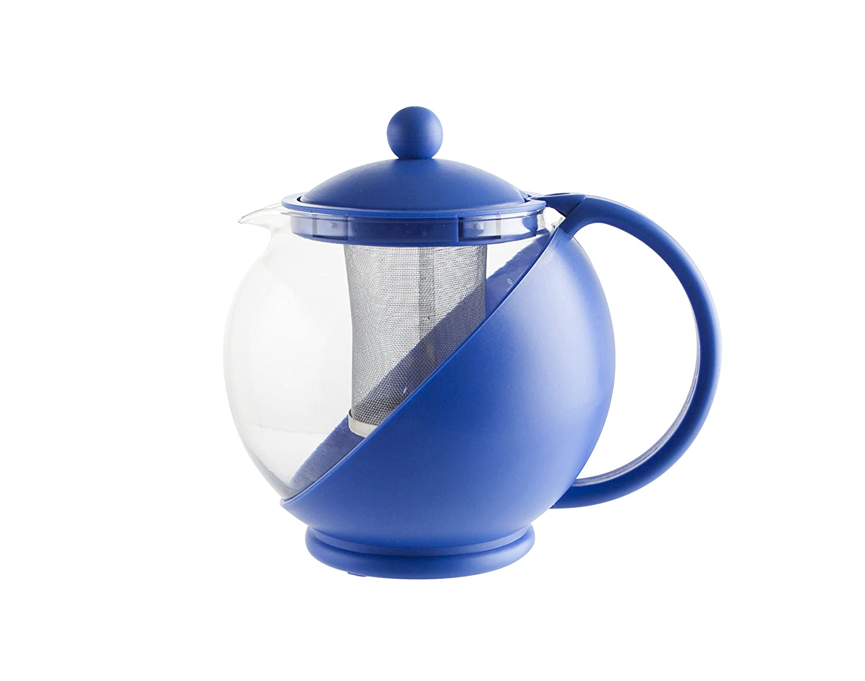 Quid Mint - Tetera con filtro, 1250 ml, color azul: Amazon.es: Hogar