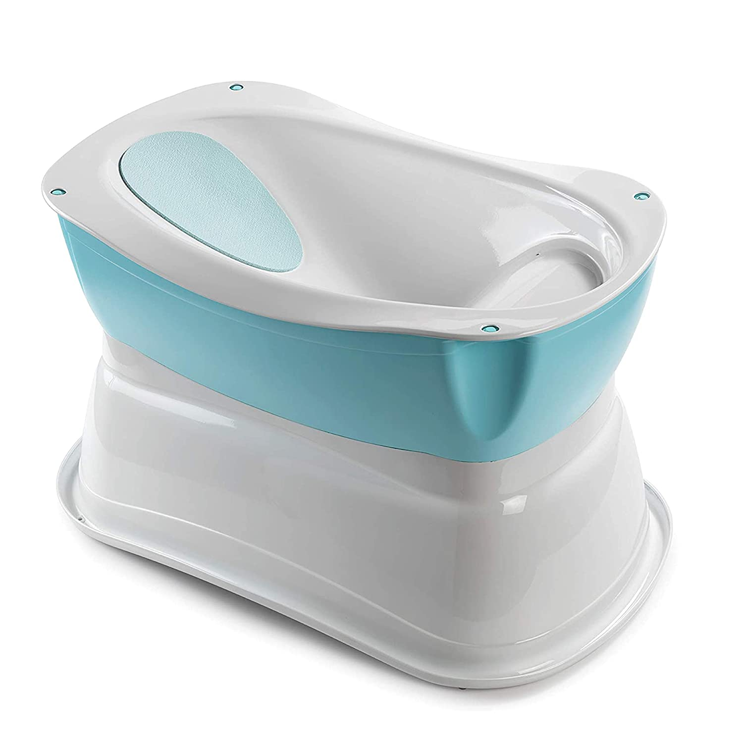 Amazon Com Summer Right Height Bath Tub Elevated And Spacious Baby Bathtub With Newborn Bath Support Extended Use Features Include Tubside Seat And Stepstool Baby