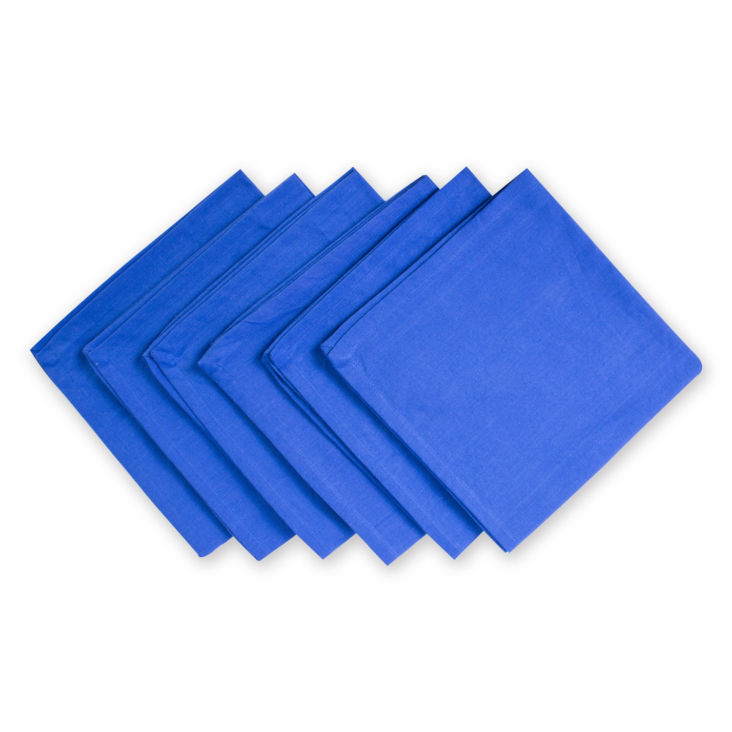 DII 100% Cotton Cloth Napkins, Oversized 20x20 Dinner Napkins, for Basic Everyday Use, Banquets, Weddings, Events, or Family Gatherings - Set of 6, Blue Jay