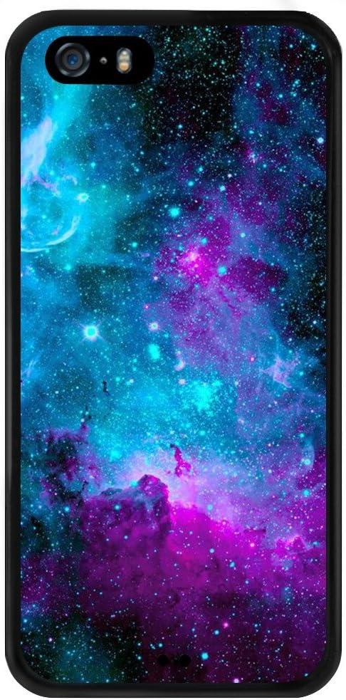 Nebula Art Coque iPhone 5S 5 SE, PC et TPU résistant aux chocs fin anti-rayures de protection kit avec Heavy Duty double couche robuste Coque prise en ...