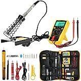Joyhero Kit de Soldador Eléctrico y Multímetro Numérico, Set de Soldador Electrónica de Estaño…