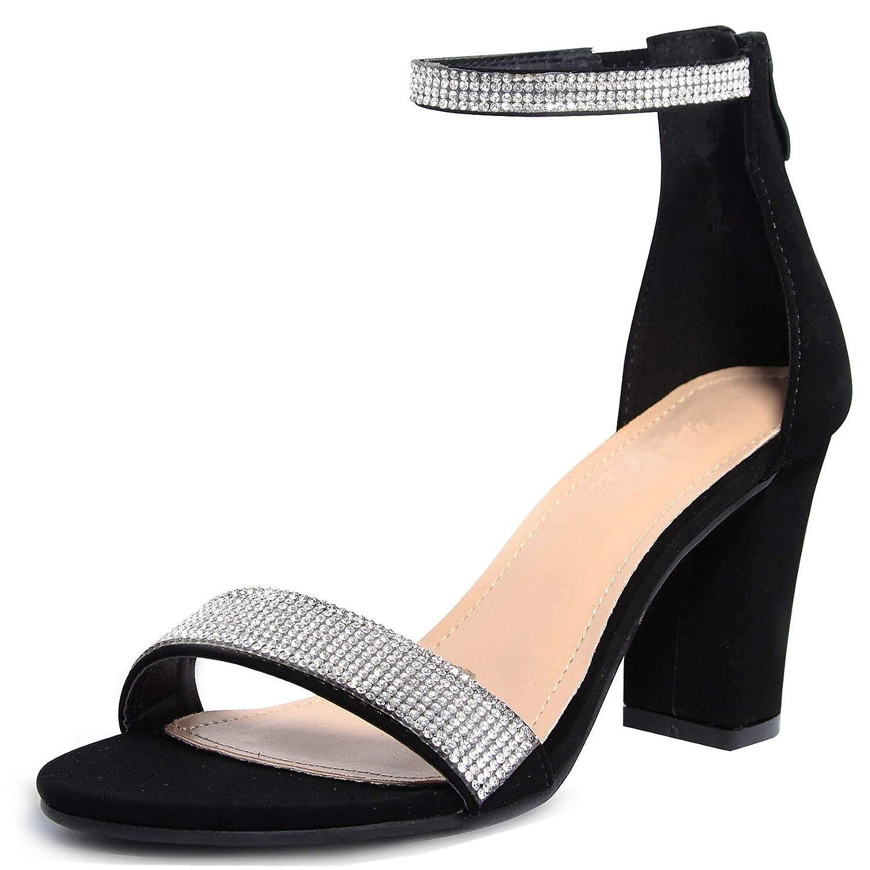 903d4812a2 Amazon.com   shoewhatever Women's Elegant Dressy Ankle Strap Heeled Pump  Sandal   Heeled Sandals