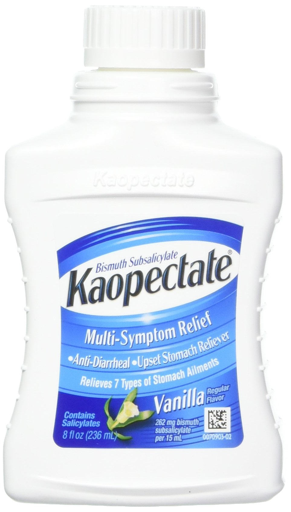 Kaopectate Multi-Symptom Relief Anti-Diarrheal/Upset Stomach Reliever Liquid, Vanilla 8 oz (Pack of 3) by Kaopectate