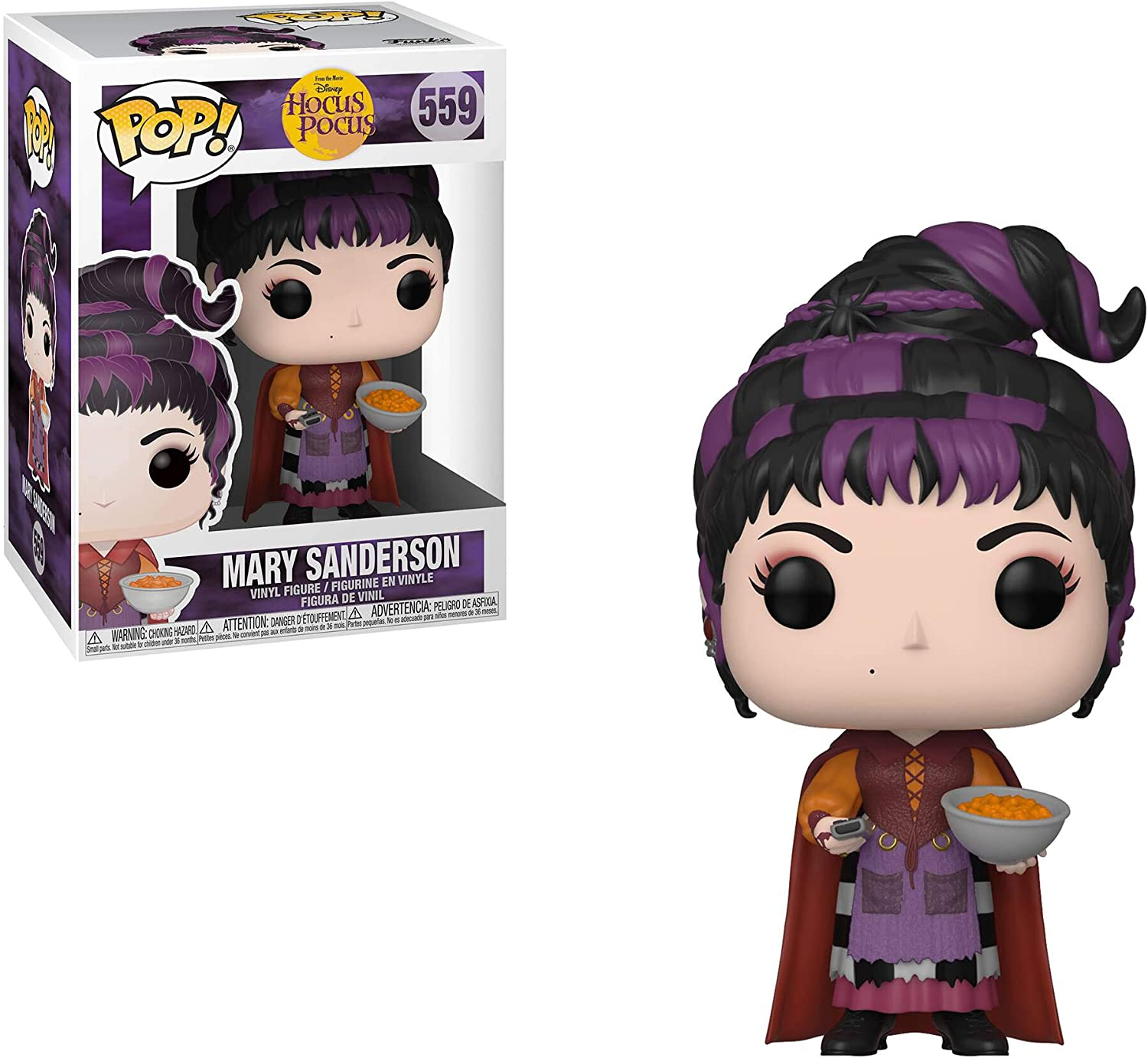 Sarah with Spider Winifred with Magic Hocus Pocus Collectors Set Funko Disney: POP Mary with Cheese Puffs