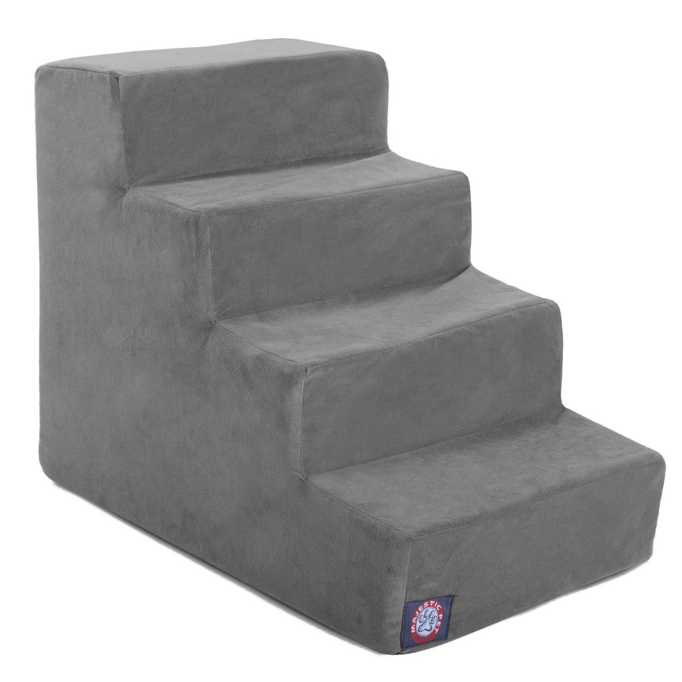 Majestic Pet 4 Step Gray Velvet Suede Pet Stairs By Products