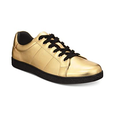 I.N.C. Men's Orion Metallic Low-Top Sneakers, Gold | Fashion Sneakers
