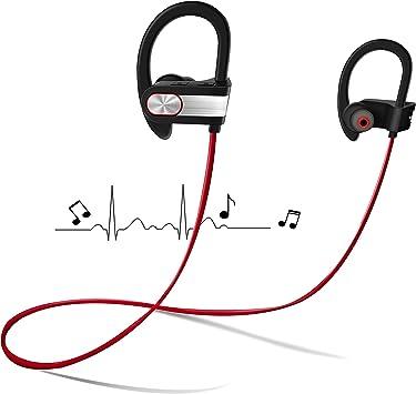 Auriculares Bluetooth Deportivos sin Cables para Correr, OKE Auriculares Inalambricos Sport Cascos con Micrófono Integrado para Apple iPhone iPad Samsung y otros móviles Android (Rojo): Amazon.es: Electrónica