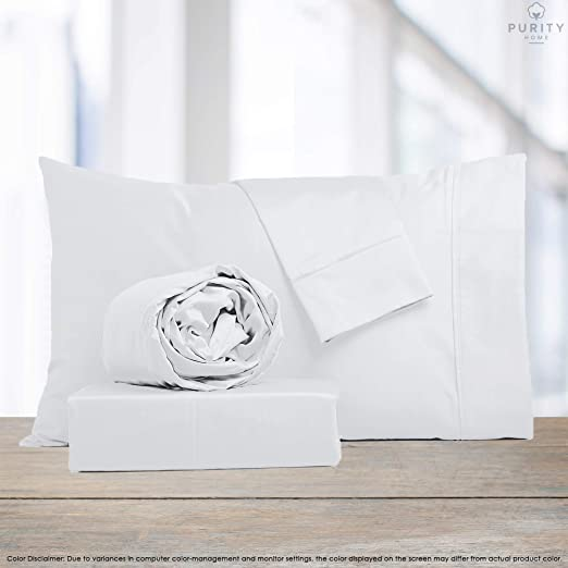 Classic Z Hem Patented Fitted Sheet Fits Up to 18 Deep Pocket Smooth /& Soft Navy Bestselling Full Sheets Sateen Weave Purity Home 400 Thread Count 100/% Cotton Performance Sheet Set,4 Piece Set