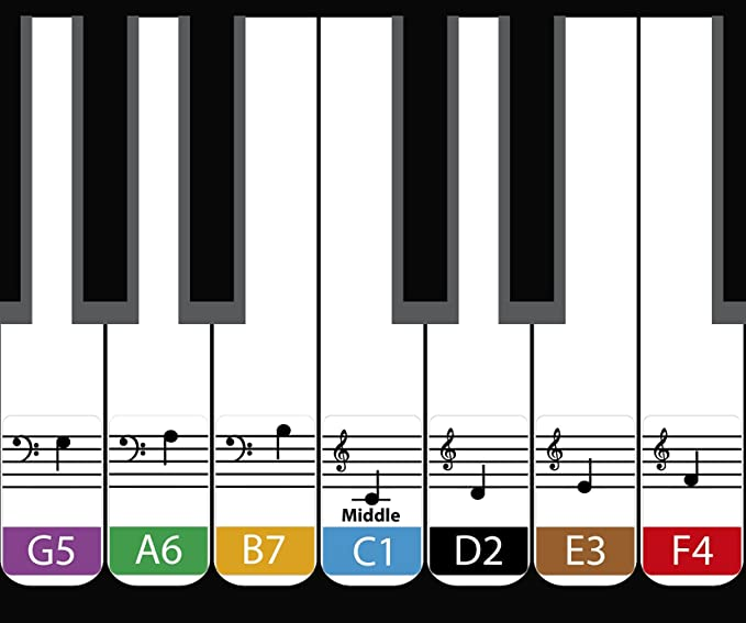 Amazon Daprofe Learn To Play Piano And Read Music Fast Decals