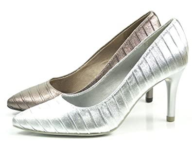 b5eb6f3db66def Tamaris Damen Pumps Silber (Metallic)