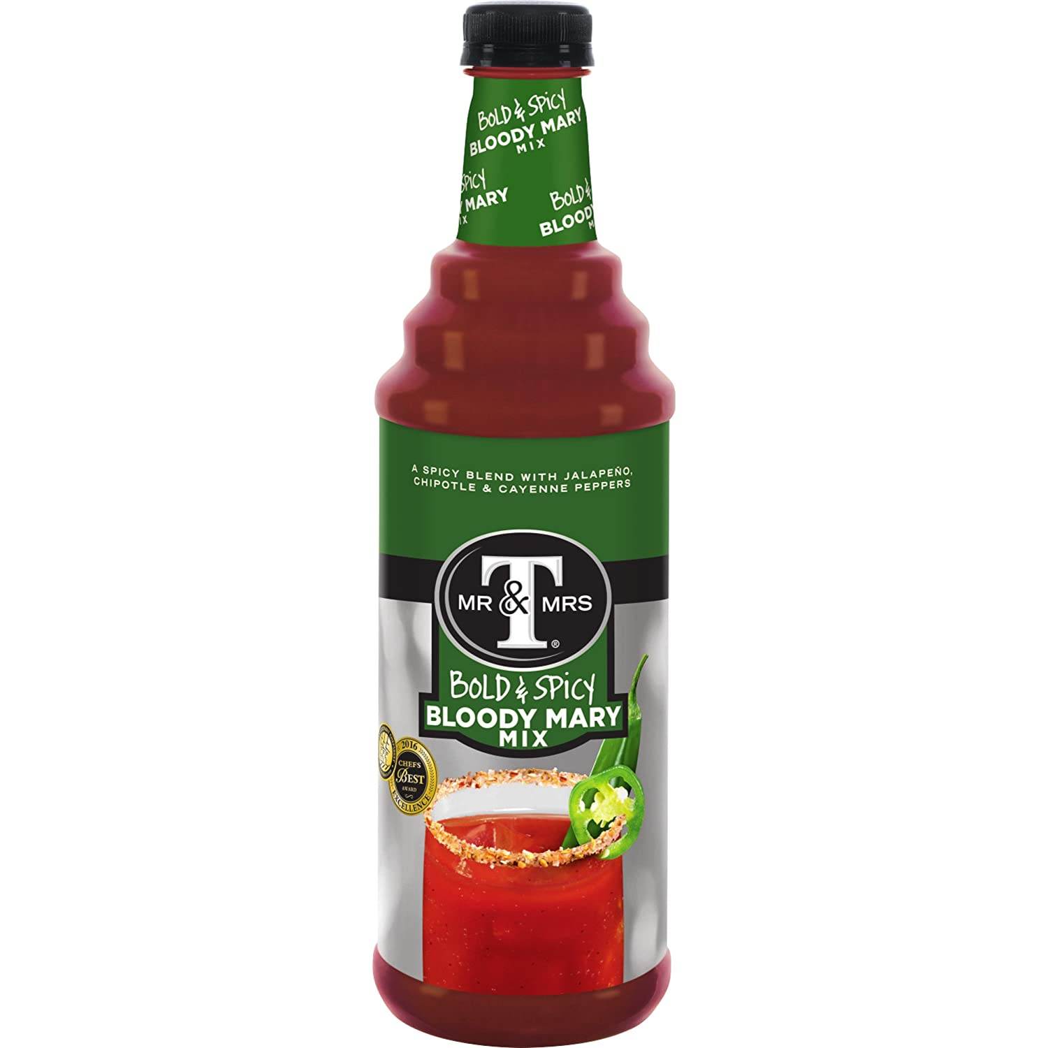 Mr & Mrs T Bold & Spicy Bloody Mary Mix, 1 L bottles (Pack of 12)