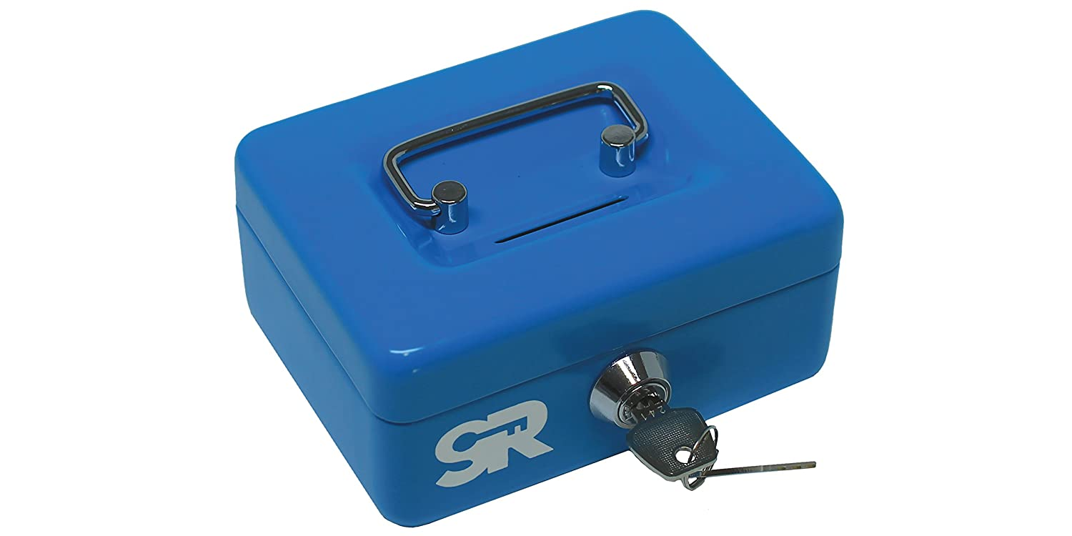 SR | Save Right MINI (SR-9205) Multi-Purpose Petty Cash Box Toy Storage (Yellow) Shyh Ru Metallic Industrial CORP.