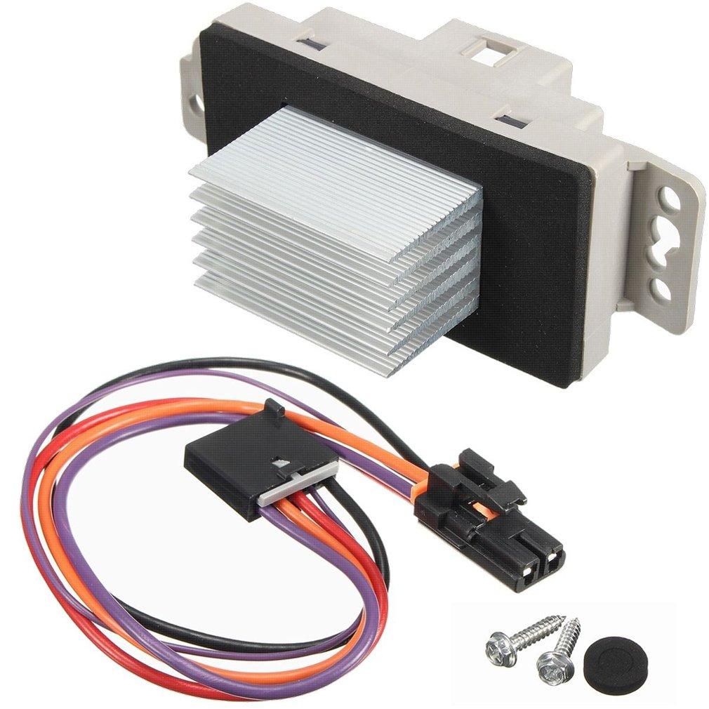Hvac Fan Blower Motor Resistor Kit With Harness Replaces Bravada Wire 1581773 89018778 15 81773 For Chevy Silverado Tahoe Trailblazer Suburban Avalanche