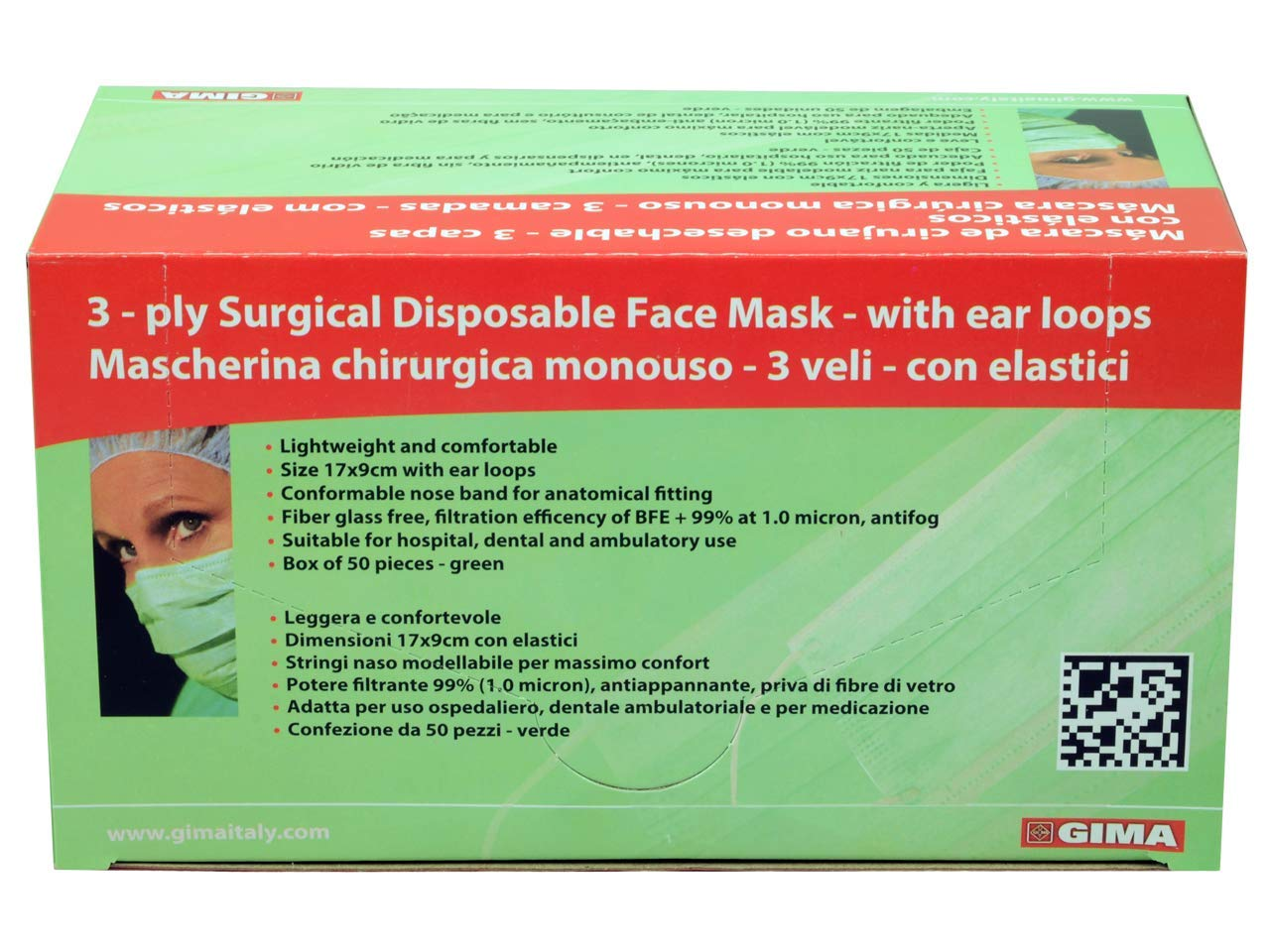 maschera facciale 3 veli