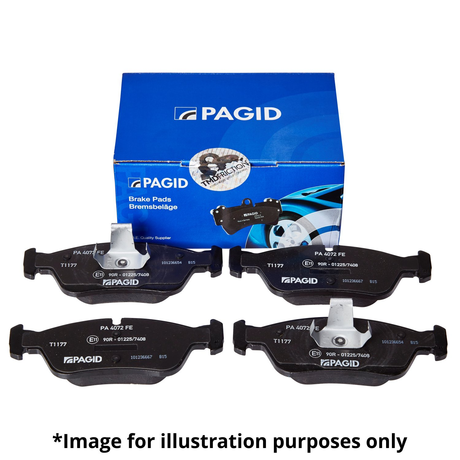 Pagid T1163 Front Right Left Brake Pads Set Teves ATE System With Integrated Wear Sensor