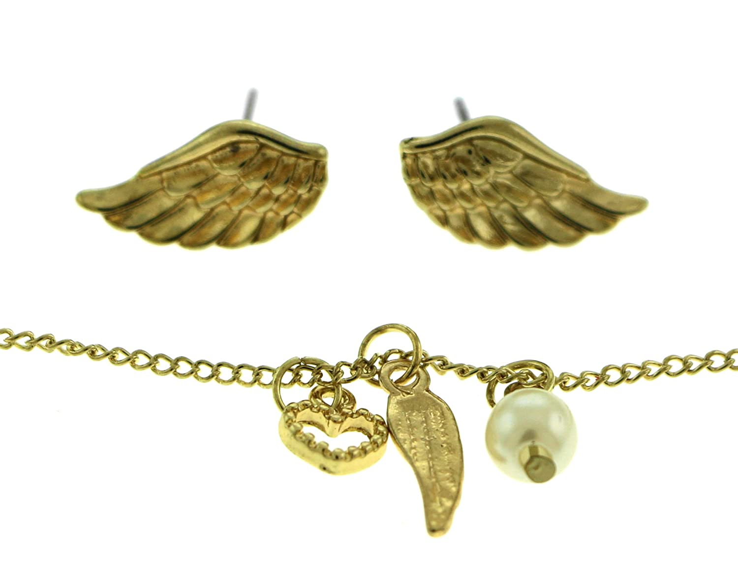 Gold-Tone Necklace And Earrings Set GRMT59
