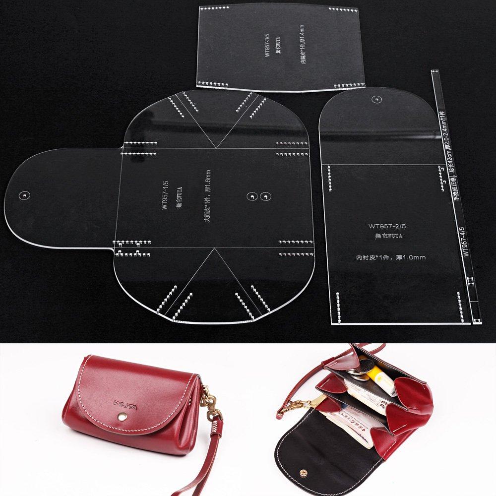 Amazon.com: WUTA Leather Mini Lady Clutch Handbag template Acrylic ...