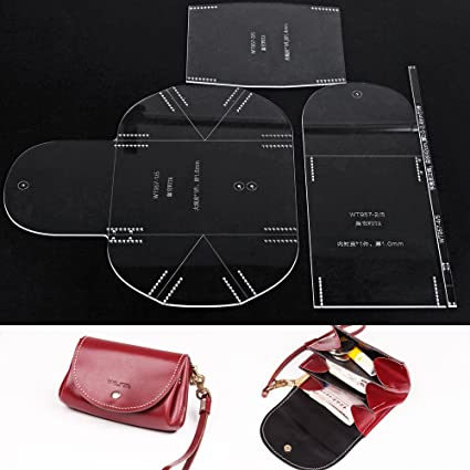 amazon com wuta leather mini lady clutch handbag template acrylic