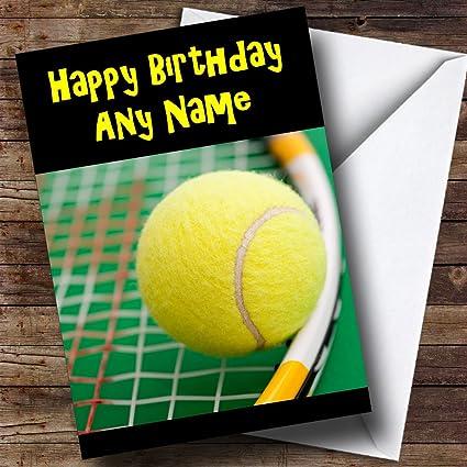 Pelota de tenis de personalizado tarjeta de cumpleaños: Amazon.es ...