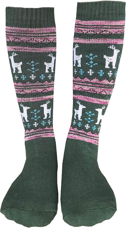 2 Pairs Girls Ski Socks Kids Thermal Snowboard Winter Thick Long Sports Boot New