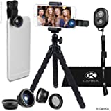 Smartphone Photography Kit - Flexible Cell Phone Tripod, Bluetooth Remote Control Camera Shutter and 5in1 Lens Kit - Universal Octopus Pod - Telephoto, CPL, Fish Eye, Macro and Wide Angle Lens
