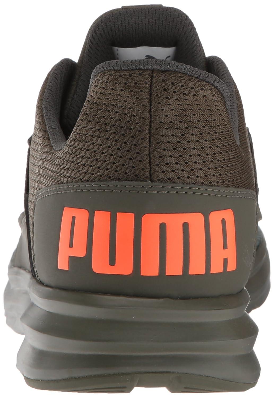 Puma - Herren Enzo Street Schuhe, 41 41 41 EU, Forest Night Laurel Wreath Shocking Orange f0b655