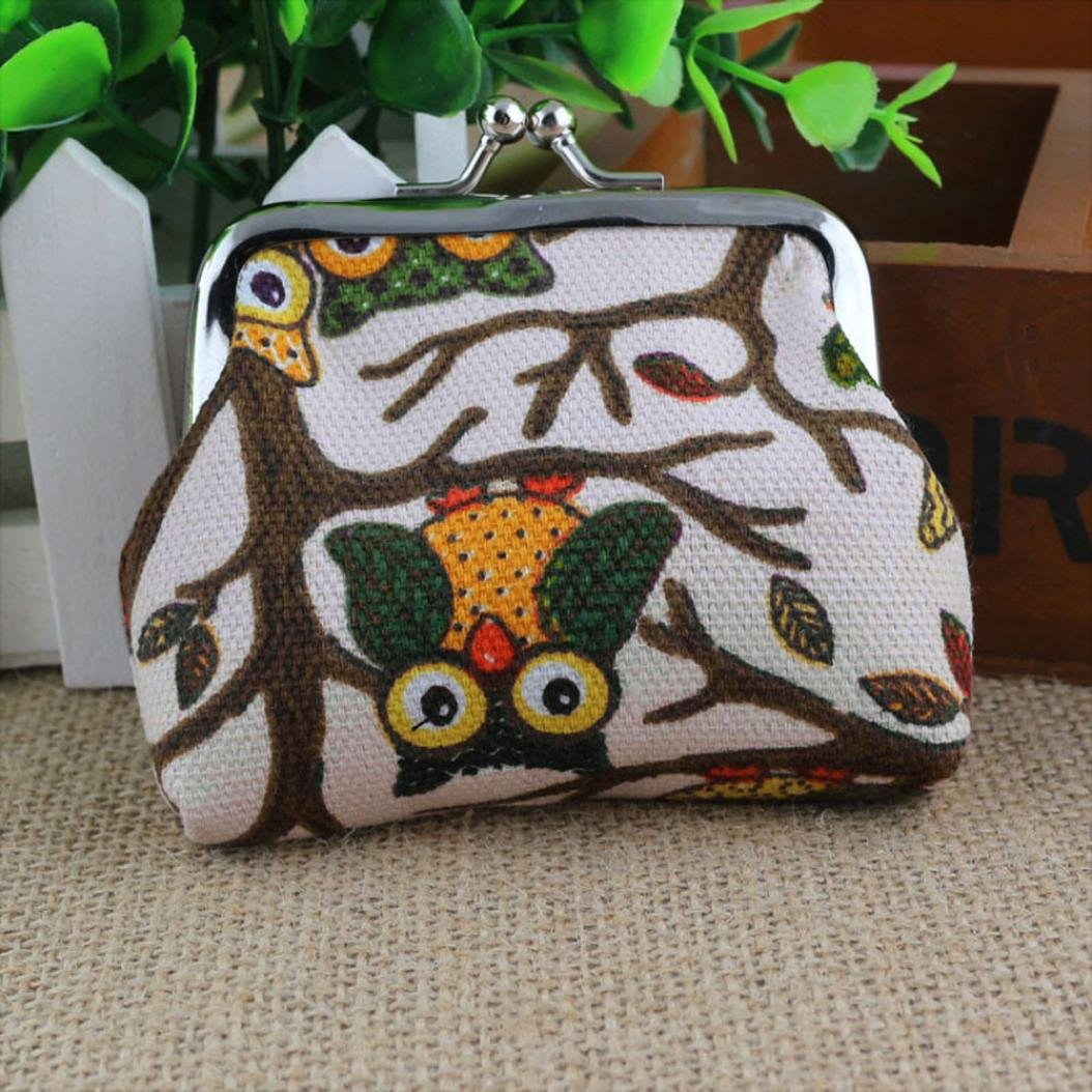 Fashion Women Lovely Style Small Wallet Hasp Owl Purse Clutch Bag (A)
