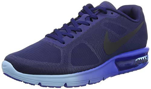 f6b2070299 Nike Men's Air Max Sequent Training Running Shoes, (Loyal Hyper Cobalt/Blue  Cap
