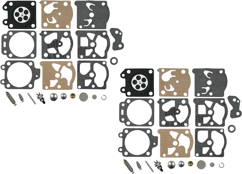 C·T·S Kit de reparación y reconstrucción de carburador sustituye a Walbro K20-WAT para Walbro WA serie WT Carburador Echo Homelite Husqvarna Stihl motosierra recortadora (paquete de 2)