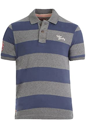 Mens Polo T Shirt Sycamore Cove Tokyo Laundry Short Sleeved Pique Striped Top