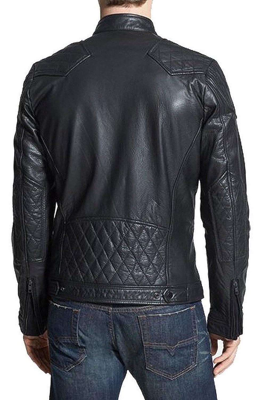 Laverapelle Men's Lamb skin Real Leather Jacket Black - 1510097