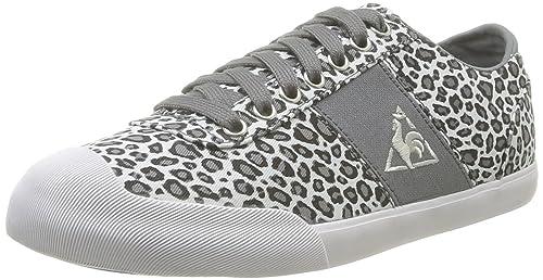 Le Coq Sportif Lilas Leopard 1411136 - Zapatillas de Tela para Mujer, Color Gris,