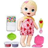 Baby Alive Dolls - Super Snacks Lily - Blonde Girl - Interactive Kids Toys - Ages 3+