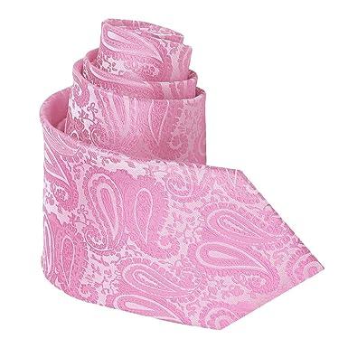 DQT - Corbata - para hombre Rosa rosa pastel Regular: Amazon.es ...