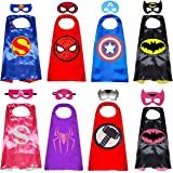 Superhero Capes with Masks Double Side Dress up Costumes Festival Christmas Halloween Cosplay Birthday Party for Kids