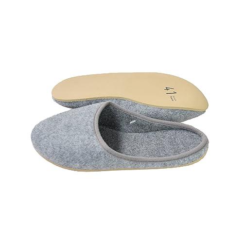 Zapatillas de fieltro, unisex, fabricado en Alemania, color gris, tallas 37 a 48, color gris, talla 37: Amazon.es: Zapatos y complementos