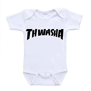 a26ef3102e4e Image Unavailable. Image not available for. Color   quot Thwasha quot  Thrasher  Magazine Parody Inspired Baby Clothing ...