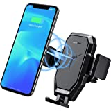 Wireless Car Charger Phone Mount, Mpow Fast Auto Charging Air Vent Phone Holder(10W, 7.5W 5W) Compatible iPhone 11 Pro…