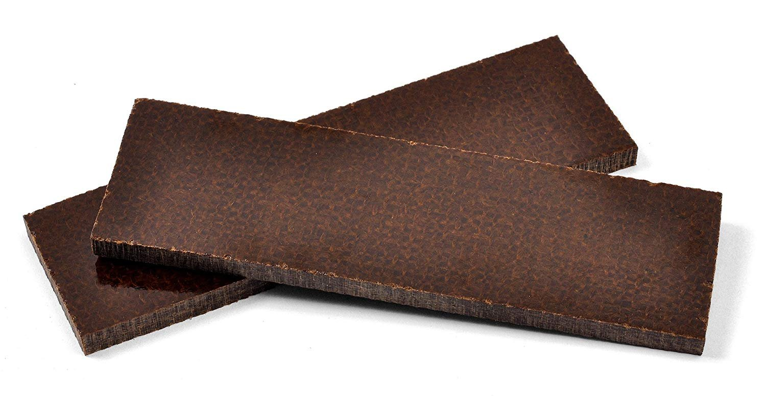 Brown Micarta Canvas Scales For Custom Knife Handles (1 5