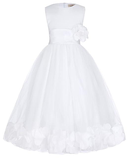 880f3e620 GRACE KARIN Niñas Vestido Largo Elegante de Princesa con Flores para Dama  de Honor Fiesta de Boda Bautizo