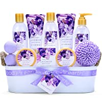 Bath Spa Gift Basket, Body & Earth Bath Gift Set 12 Pcs Lavender Scented, Includes...