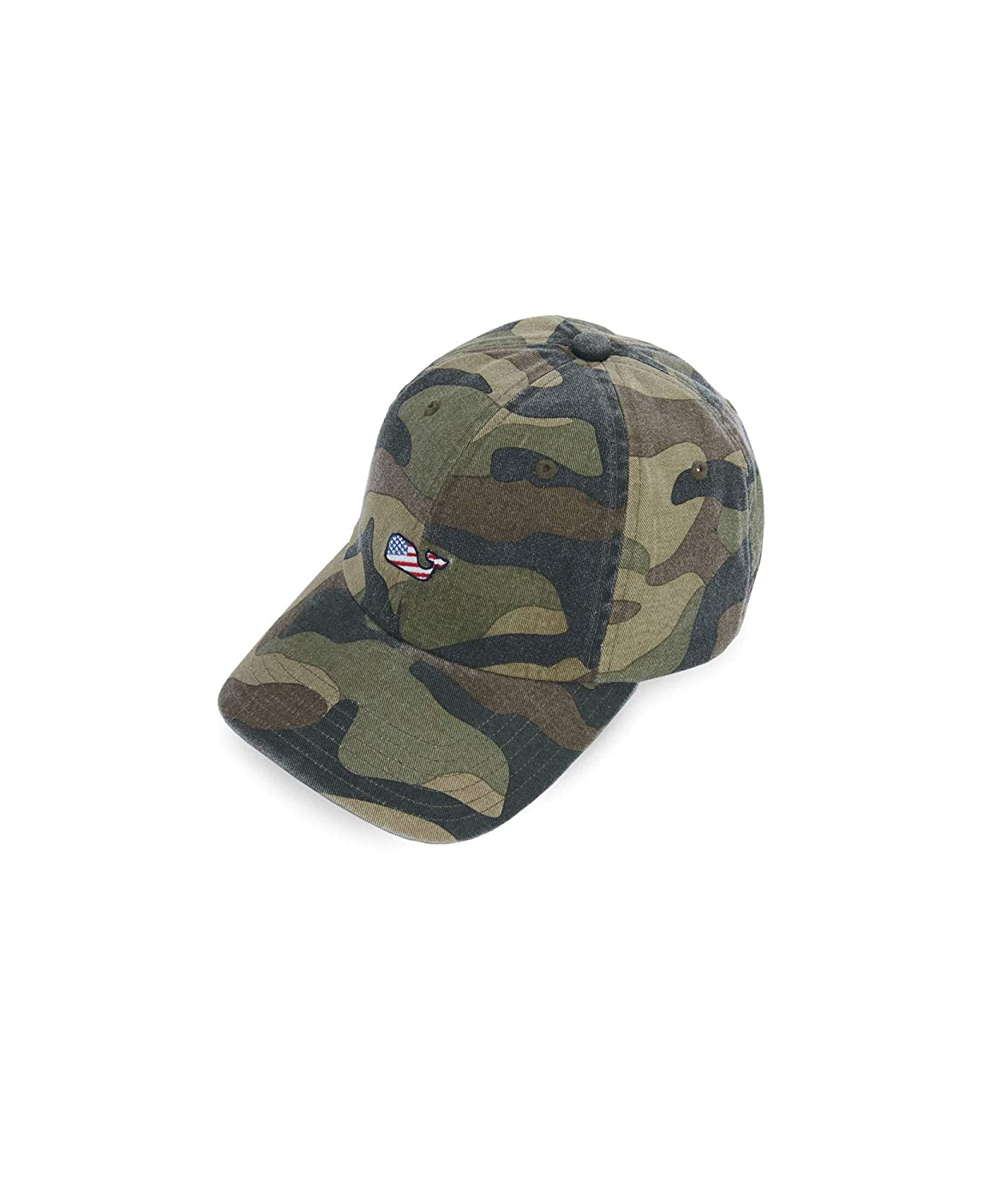 006ba113eaeb7 VINEYARD VINES Washed Camo Flag Whale Baseball Hat  Amazon.ca  Clothing    Accessories