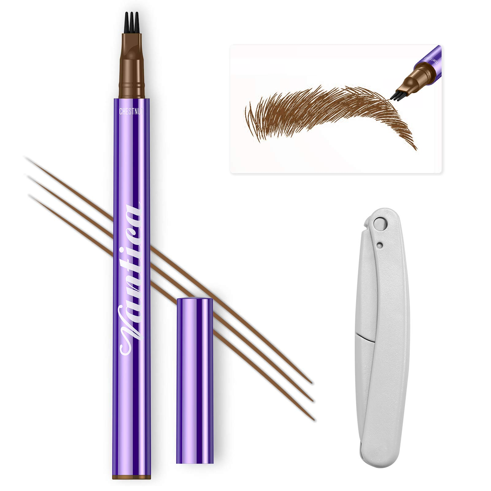 VANTICA Microblading Eyebrow Tattoo Pen – Liquid Microblading Pen Waterproof Eyebrow Pencil