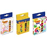 Jovi Plastilina Non=Drying Modeling Clay; 3-Pack Combo; 18 rolls of 0.5 ounce each, 9 total ounces; Basic, Pastel and Neon Co